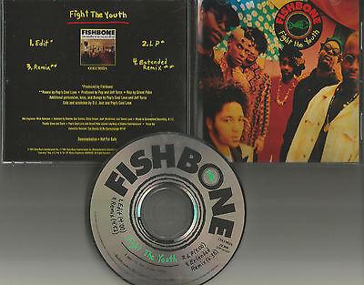 FISHBONE Fight the Youth 4TRX w/ EDIT & REMIX & EXTDENDED PROMO DJ CD single 91