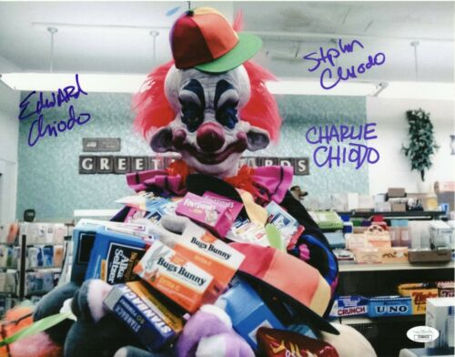 Chiodo Brothers Autograph Signed 11x14 Photo - Killer Klowns Creators (JSA COA)