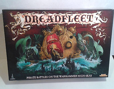 Warhammer Boxed Game- 1x Dreadfleet. Opened contents untouched. OOP