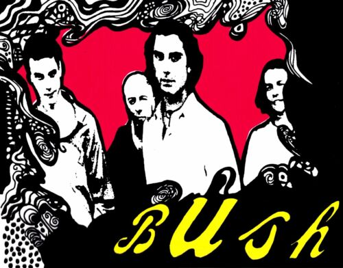 Sticker - Bush Cartoon Group Rock Grunge Gavin Rossdale Music Band Decal #13160