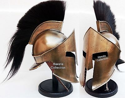 Medieval Knight KING LEONIDAS GREEK SPARTAN Armour 300 Helmet on Wooden Stand ](Greek Spartan)