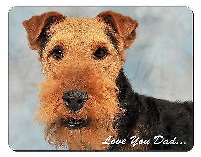 Welsh Terrier Dog 'Love You Dad' Computer Mouse Mat Christmas Gift Ide, DAD-136M