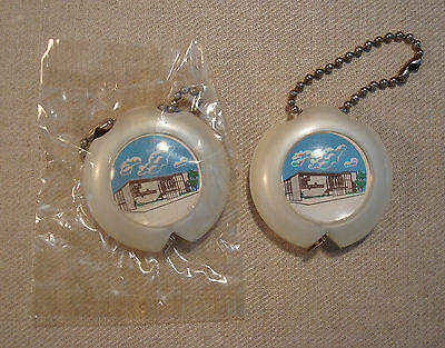 2 Vintage Bank Of Independence Mo Key Chain Tape Measure Advertising Premium