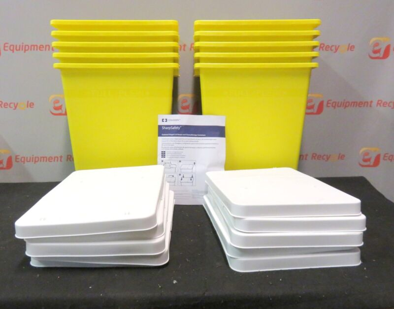 Covidien SharpSafety Chemotherapy Container Hinged Lid Sharps 8985 Lot of 10 New