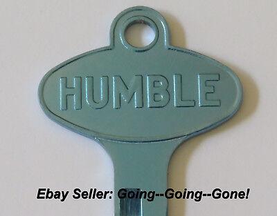 Vintage Humble Oil Co Key Blank Ford Lincoln Mercury Edsel 1958 1966 1127Du Blue