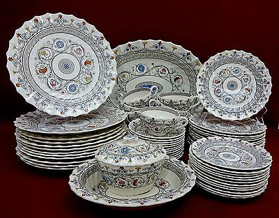 SPODE china FLORENCE 64-piece SET SERVICE for 12 - 1937 - 1973 Mark