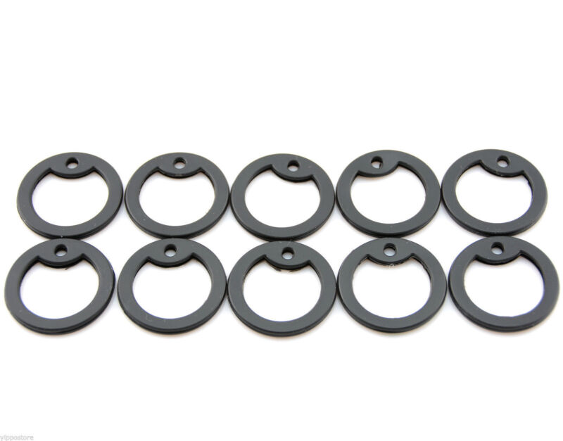Pack of 10 Black Color Military Army ID Dog Tag Rubber Silicone Silencers