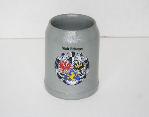 Vintage Stadt Erlangen Beer Stein Mug - .5 Liter - Stamped WM - Germany