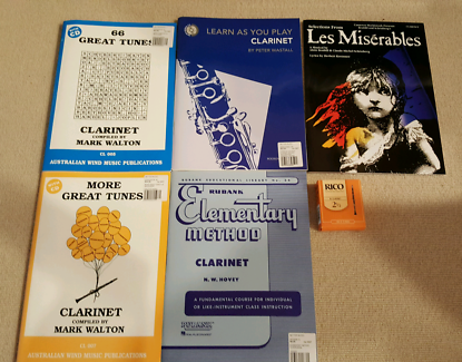 Clarinet Music Books and Rico 2.5 Reeds