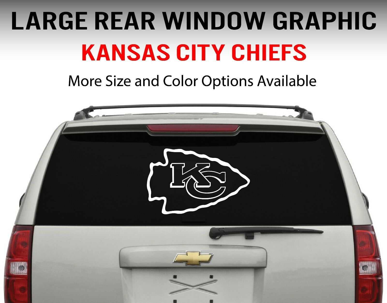 Kansas City Chiefs Window Decal Graphic Sticker Car Truck SUV - Sporting kc car decals