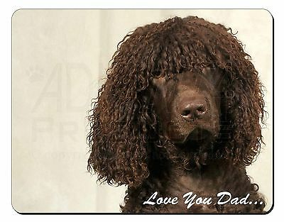 Irish Water Spaniel 'Love You Dad' Computer Mouse Mat Christmas Gift Id, DAD-59M