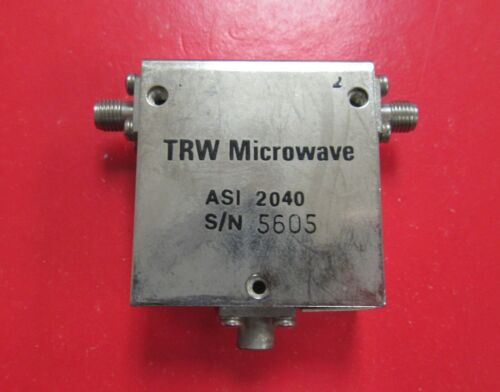TRW Microwave 2-4GHz Isolator Model ASI2040, SMA
