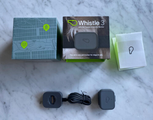 Whistle 3 GPS Pet Tracker And Activity Monitor In Original Box Manual Charger - $28.00