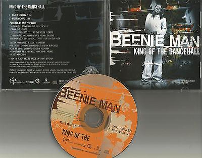 BEENIE MAN King of the Dancehall w/ SINGLE version & INSTRUMENTAL PROMO DJ