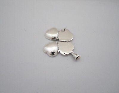 4 Way Heart Locket (925 Silver 4 Way Heart Shaped Plain Locket Pendent)