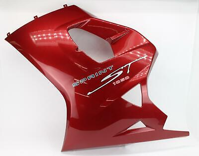05-12 Triumph Sprint ST 1050 RED Left Lower Bottom Belly Side Fairing Cowl 2688