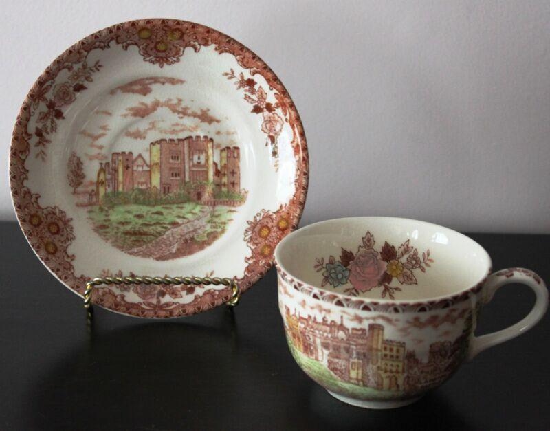 Collectible Vintage BROWN & RICHIE English Castles Lambton Flat Cup & Saucer Set