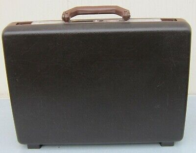 Vintage SAMSONITE BROKER Hard Shell BRIEFCASE with KEYS Attache Case LAPTOP