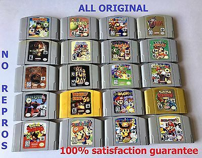 Mario 64  Mario Kart   Smash Bros  Zelda Choose Your Favorite Game  All Original