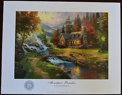 Thomas Kinkade Unframed Mountain Paradise Print 8x11