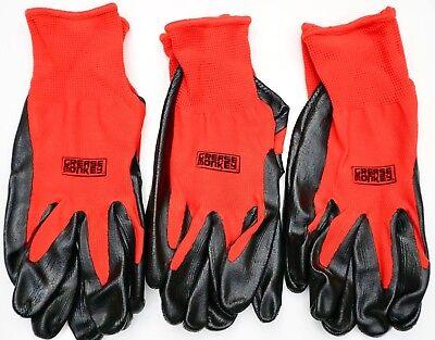 Grease Monkey Nitrile Coated Work Gloves Latex-free Size Large 3 6 Or 12 Pairs
