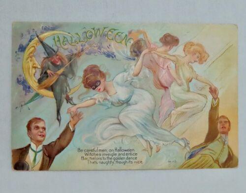 Vintage Nash H-12 Halloween Postcard - 80938