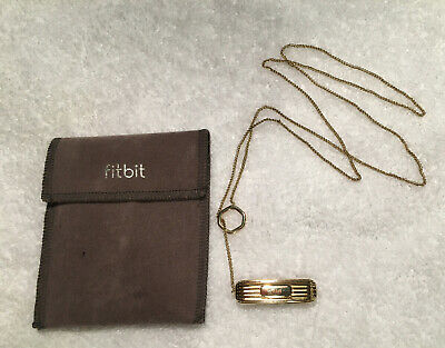 Fitbit authentic gold colored necklace for Flex 2 tracker