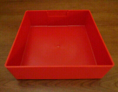 Lista Red Plastic Box 6 X 6 X 2 Vidmar Tool Drawer Parts Cabinet Organizer