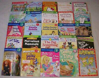 Lot 25 LEVEL 2 GIRLS I Can Read, Step Into Reading, Scholastic Readers FREE SHIP