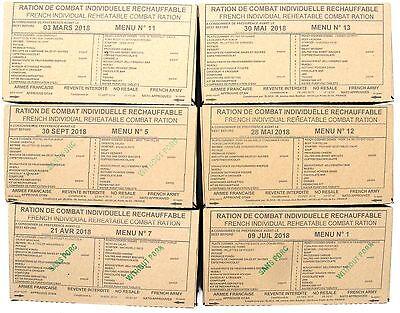 RCIR French Military Emergency survival food ration 24H - 6 meals