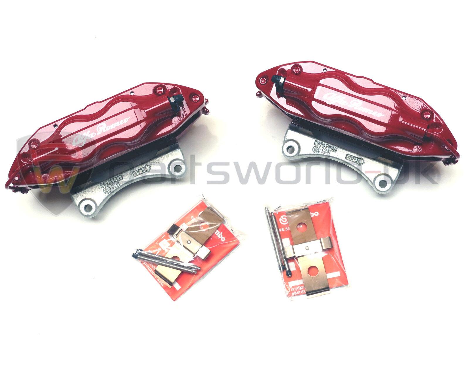 PAIR Alfa Romeo 147 156 GT 3 2 V6 GTA Red Brembo Brake Callipers New