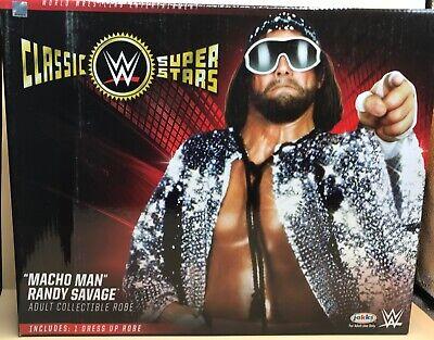 Macho Man Randy Savage Costumes (WWE MACHO MAN RANDY SAVAGE Adult Replica Robe Halloween Costume Cosplay NEW)