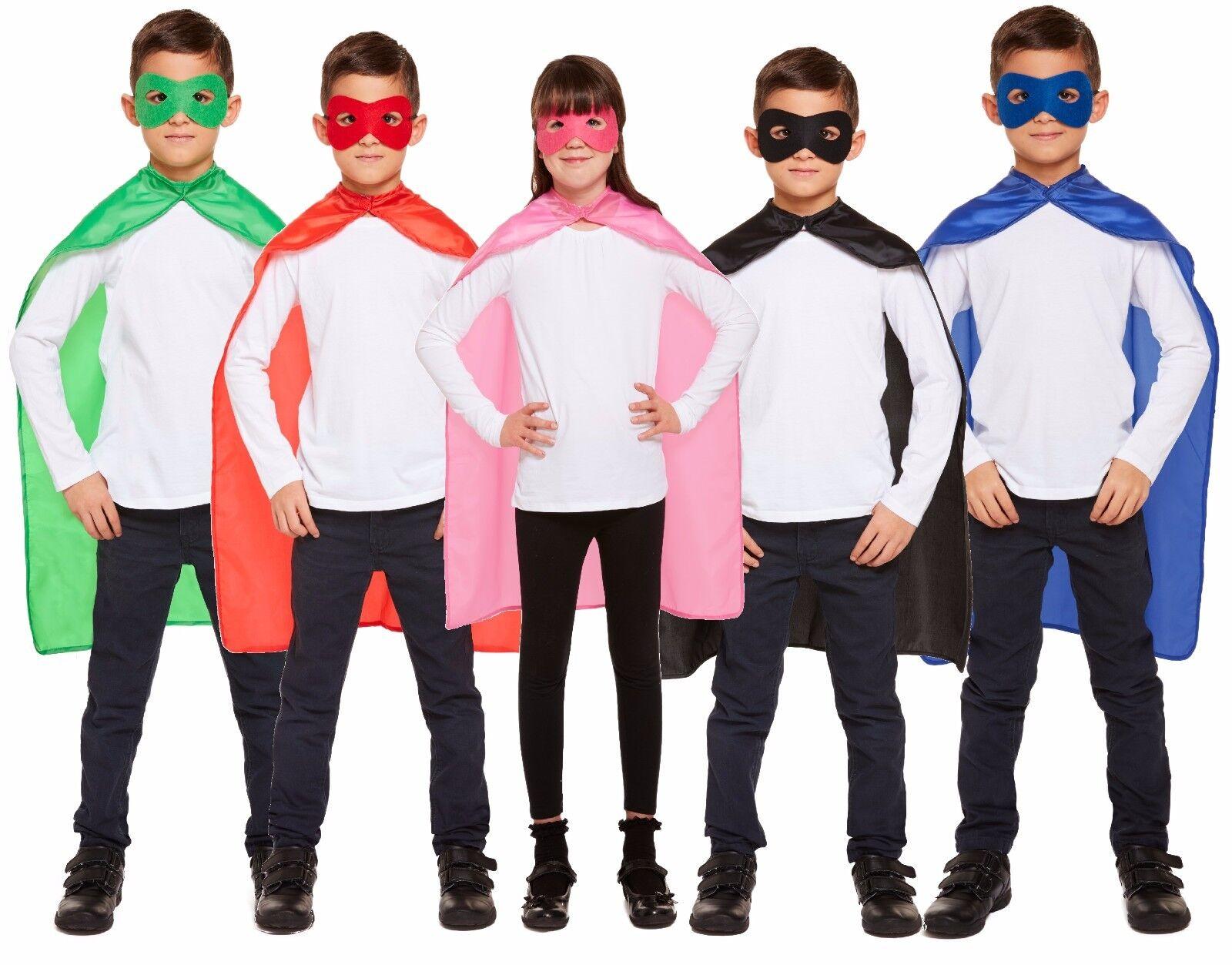 Kids Superhero Flying Hero Fancy Dress Costume Outfit Suit Halloween