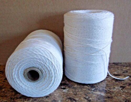 2 Natural Spools 8/4 Poly/Cotton Loom Weaving Rag Rug Carpet Warp Yarn String
