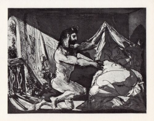 Pablo Picasso, Faun Unveiling a Sleeping Girl, Vollard Suite
