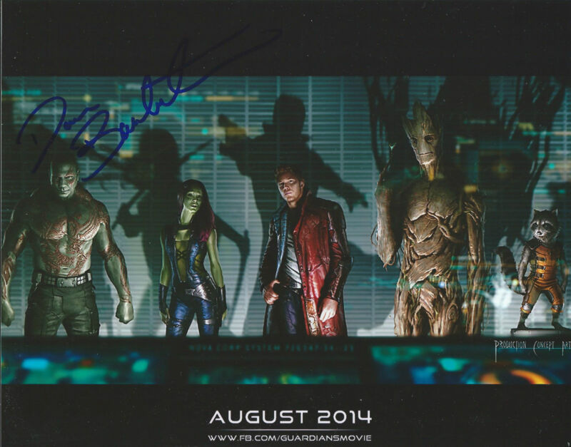 **Guardians of the Galaxy-Batista *DAVE BAUTISTA* Signed 8x10 Photo MH3 COA**