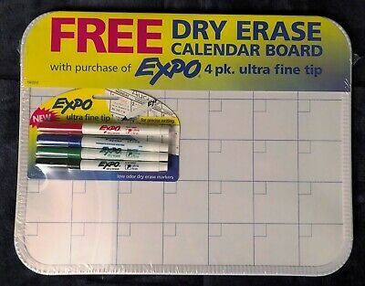Expo Low Odor Ultra Fine Tip Dry Erase Markers With 11 X 14 Dry Erase Board