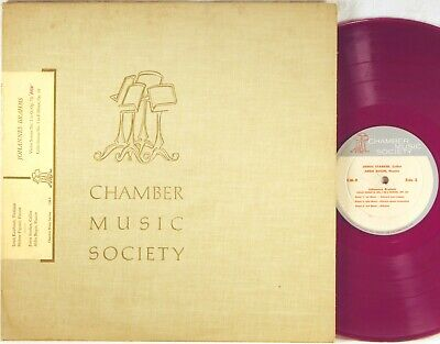 CHAMBER MUSIC SOCIETY Brahms STARKER Cello Sonata RED VINYL Kaufman CM-9