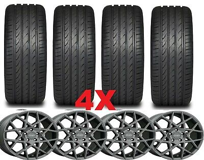 17 MAG ALLOY WHEELS RIMS TIRES 205 50 17 GRAY PACKAGE SENTRA -