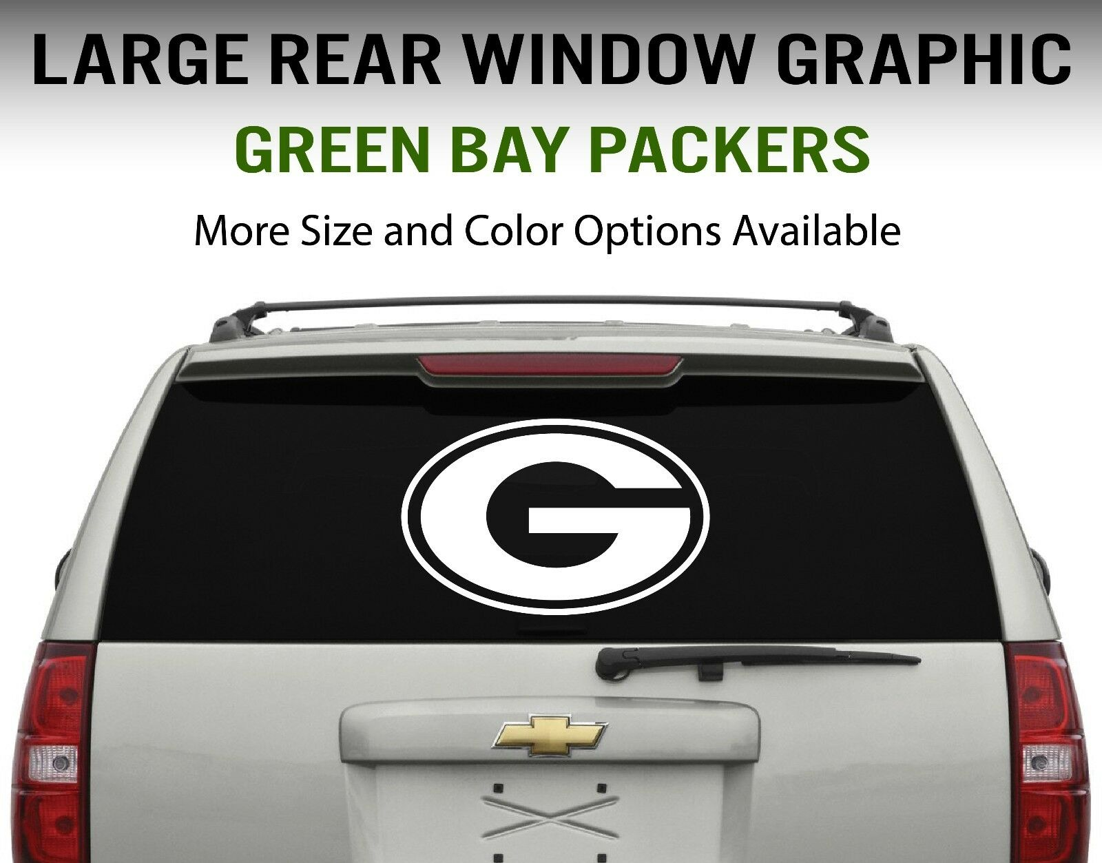 769756e0ee0 Details about Green Bay Packers Window Decal Graphic Sticker Car Truck SUV  - Choose Size