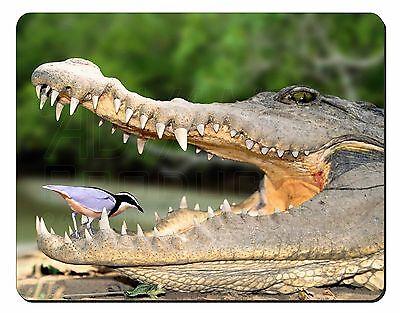Nile Crocodile, Bird in Mouth Computer Mouse Mat Christmas Gift Idea, AR-C2M