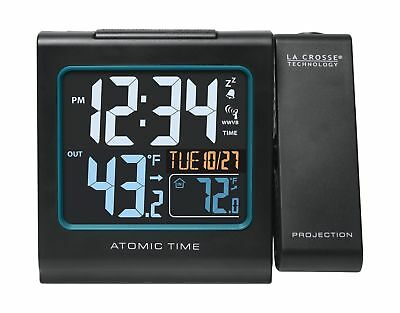 La Crosse Technology 616-146 Color Projection Alarm Clock with Outdoor temper...