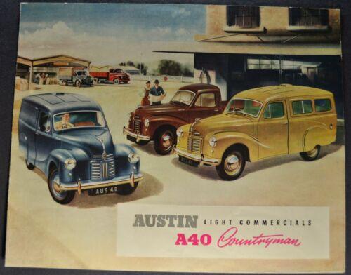 1953 Austin A40 Countryman Van Pickup Brochure Folder Nice Original 53
