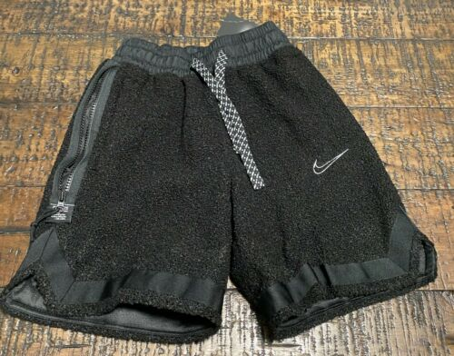 NEW NIKE CoZy DNA Black  Fluffy BasketBall Shorts SZ Small  Bv9383-010