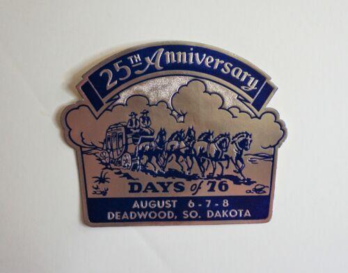 Original Vintage Travel Decal Days of 76 Deadwood South Dakota Window Souvenir