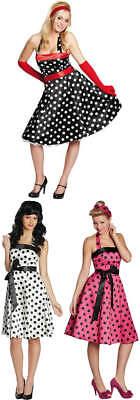 Punktekleid Kleid 50er Jahre Rock'n'Roll Karneval Fashing Kostüm 34-44