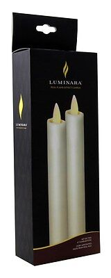 Luminara Flameless Candle - Taper - Ivory - 8 in - 2 Pack