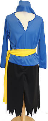 BLACK & BLUE PIRATE Fancy Dress COSTUME ALL AGES  (Blue Pirate Girl Costume)