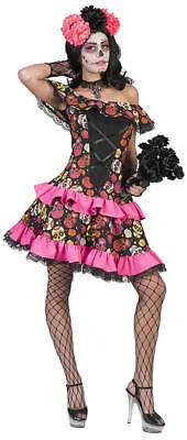 Day of the Dead Muerto Miranda Horror Halloween Karneval Fasching Kostüm 36-50