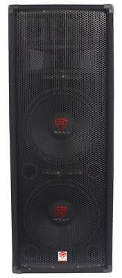 "Rockville RSG12.2 Dual 12"" 2000 Watt 3-Way 8-Ohm Passive DJ/Pro Audio PA Speaker"
